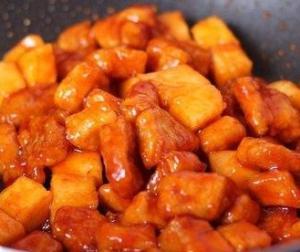 Свинина с ананасами кисло-сладкая
