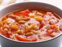 Суп с фасолью, томатом и шалфеем постный