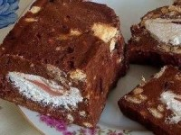 Холодный торт с зефиром