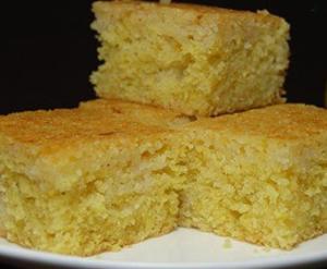 Простой лимонный пирог из манки