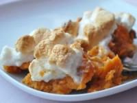 Сладкий картофель с маршмеллоу