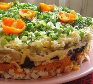 Салат ночка с черносливом рецепт