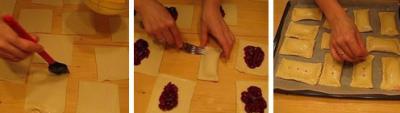 Слоечки с вишневой начинкой