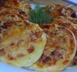 рецепт картофельные ватрушки с курицей