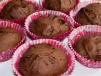 Нежные шоколадные маффины