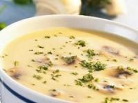 Низкокалорийный грибной суп с сыром