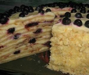 "Торт ""Лесная ягодка"" на сковороде"
