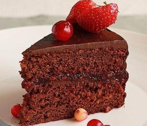 Шоколадно-клюквенный торт