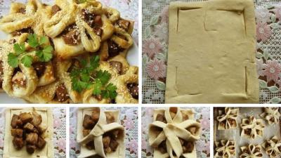 Пирожки в слоеном тесте