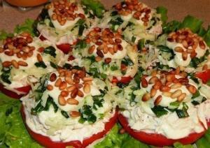 Салат с кедровыми орешками и курицей рецепт 149