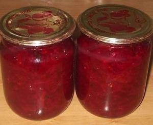 Салат из свеклы с яблоками на зиму