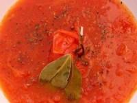 Томатный суп с медом и имбирем