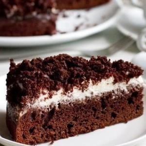 Шоколадно-кофейный пирог со сметанным кремом
