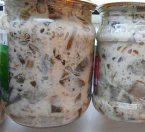 Баклажаны в майонезе со вкусом грибов на зиму рецепты