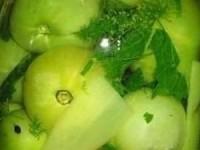 Маринованные зелёные помидоры на зиму