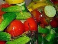 Овощное ассорти с водкой без стерилизации на зиму