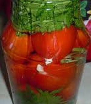 Проквашенные помидорчики с чесноком на зиму