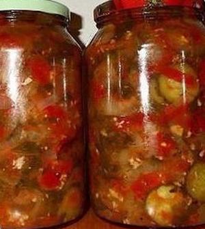 Салат из овощей в собственном соку на зиму