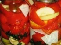Салат из перца и помидоров в медовой заливке на зиму