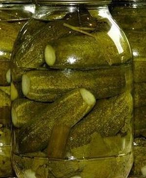 Консервированные огурцы с сухой горчицей