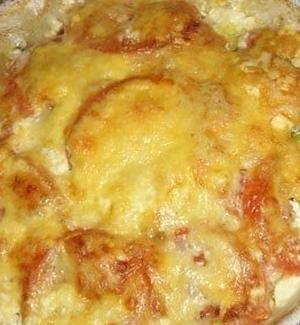 Тушеное мясо под сыром
