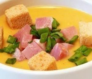 Картофельный суп-пюре с зеленым луком