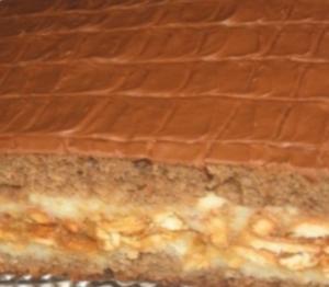 Торт со сгущенкой и шоколадом