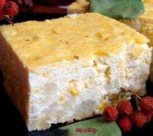 Творожный заливной пирог с цветной капустой