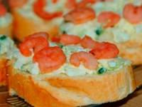 Бутерброды с креветками