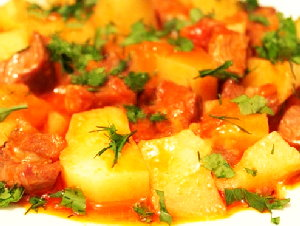 Тушеная Картошка с мясом в мультиварке