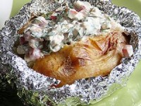 Запеченная молодая картошка