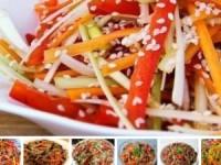 Рецепты салатов по-корейски