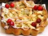Песочный пирог с яблоками и тыквой