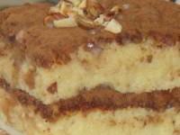 Бисквитный торт пропитанный сгущенкой