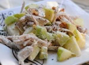 Вальдорфский куриный салат
