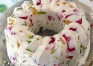 Десерт Осколки счастья (желейный)