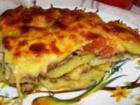 Картофельная лазанья