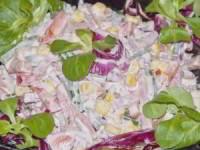 Салат с ветчиной и сладким перцем