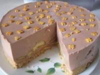 Шоколадно-банановый торт без выпечки