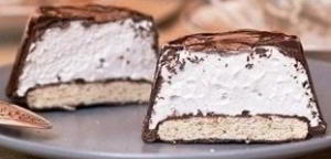 Шоколадный десерт с маршмэллоу