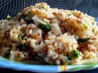 Гречнево-пшеничная каша с овощами (без масла)