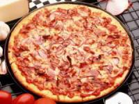 Постная пицца с креветками