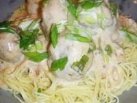 Спагетти под соусом с биточками