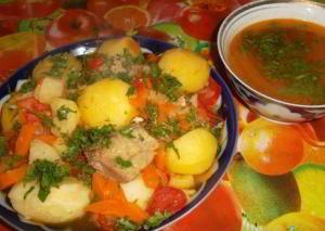 """Суп """"Шурпа-Кайнатма"""" (Узбекская кухня)"""