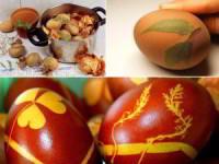 Как получить красивые растительные узоры на пасхальных яйцах