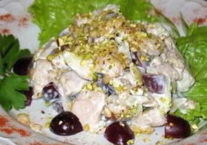Салат из курицы по-азербайджански