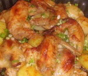 Крылышки с картошкойм