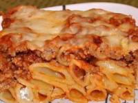 Макароны, запеченные с мясом и сыром