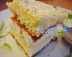 """Бисквитный торт """"Нежный"""""""