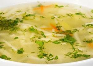 Вермишелевый куриный суп
